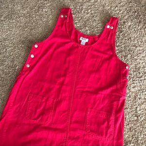 Vintage | Red Denim Tank Dress